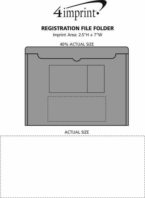Imprint Area of Registration File Folder