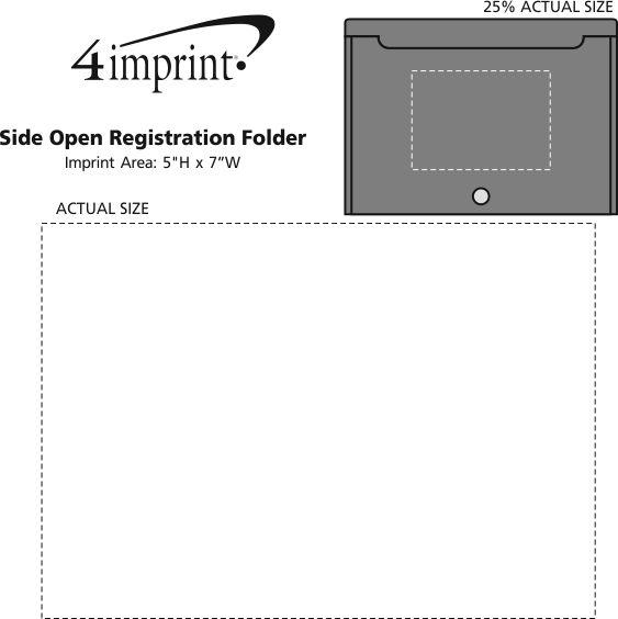 Imprint Area of Top Open Horizontal Registration Folder