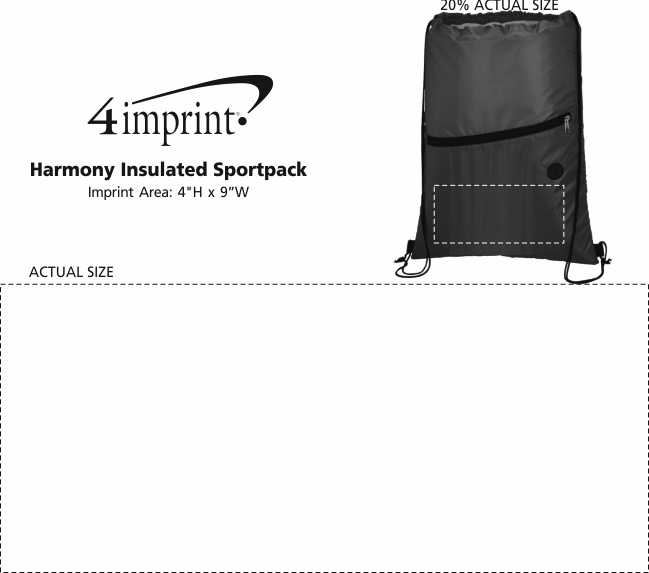 Imprint Area of Harmony Insulated Sportpack