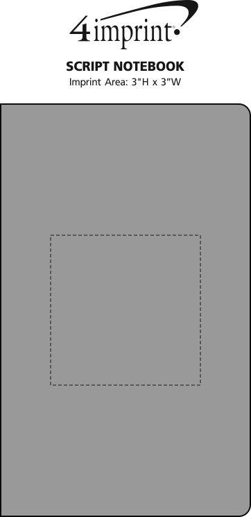 Imprint Area of Script Notebook
