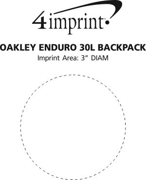 Imprint Area of Oakley Enduro 30L Backpack