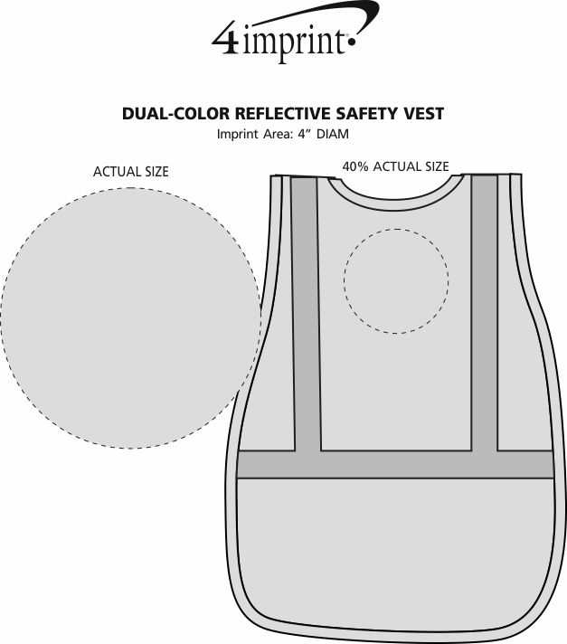 Imprint Area of Dual-Color Reflective Safety Vest