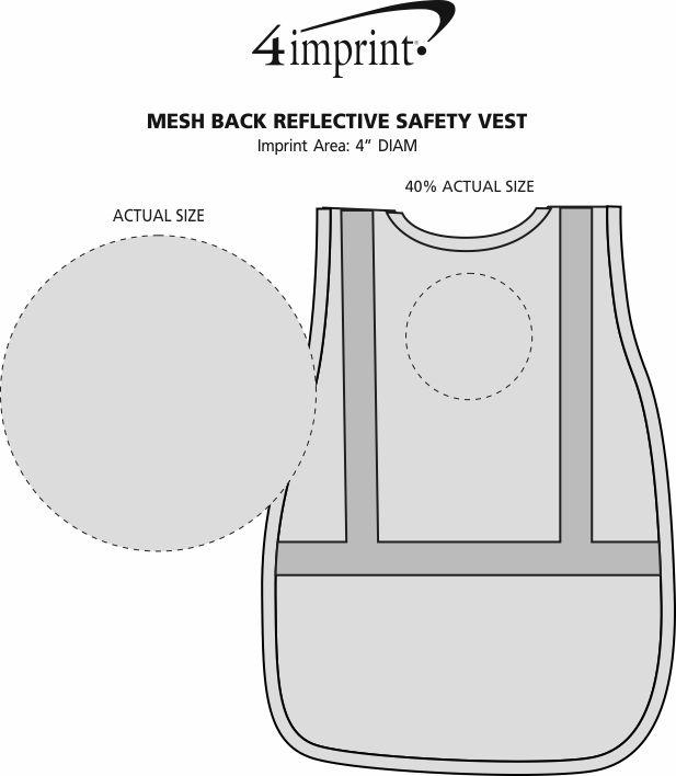 Imprint Area of Mesh Back Reflective Safety Vest