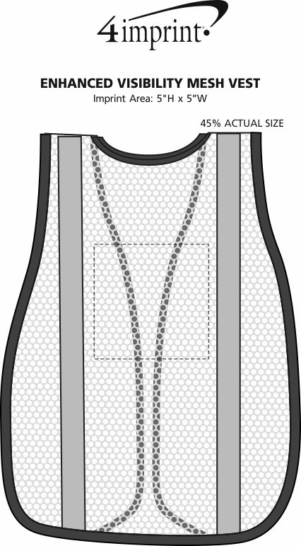 Imprint Area of Enhanced Visibility Mesh Vest