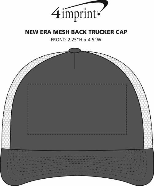 Imprint Area of New Era Mesh Back Trucker Cap