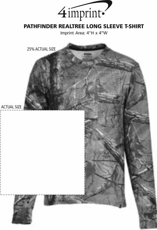 Imprint Area of Pathfinder Realtree Long Sleeve T-Shirt