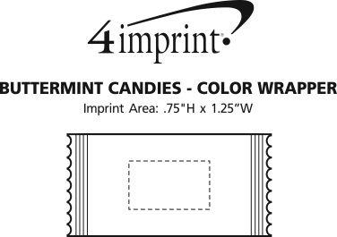 Imprint Area of Buttermint Candies - Color Wrapper