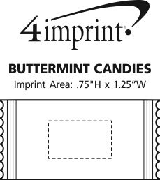 Imprint Area of Buttermint Candies