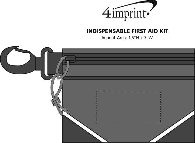 Imprint Area of Indispensable First Aid Kit