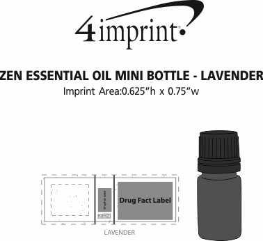 Imprint Area of Zen Essential Oil Mini Bottle - Lavender