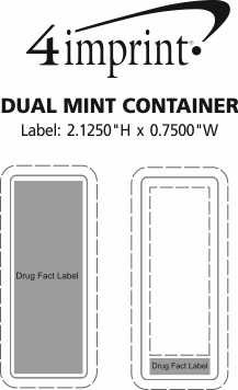 Imprint Area of Dual Mint Container