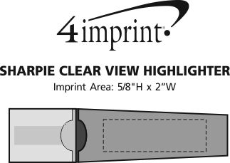Imprint Area of Sharpie Clear View Highlighter