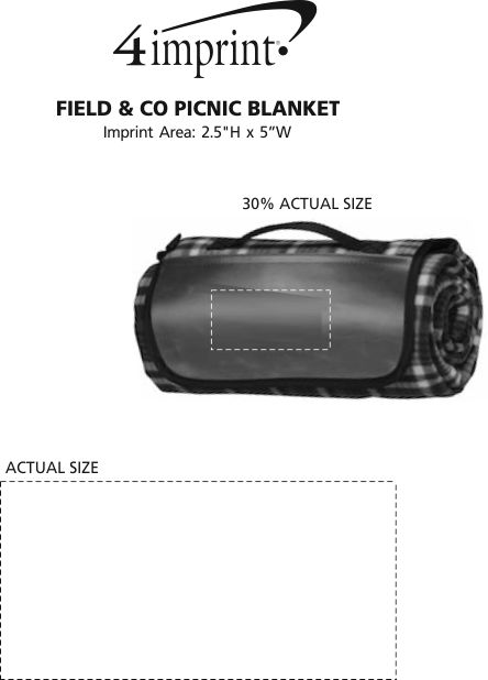 Imprint Area of Field & Co. Picnic Blanket