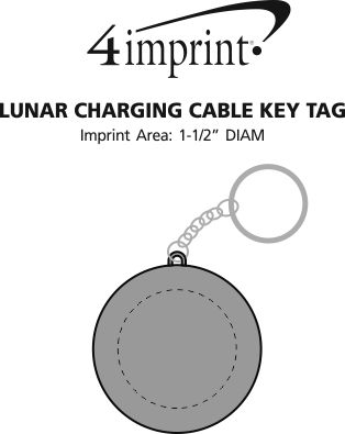 Imprint Area of Lunar Charging Cable Keychain