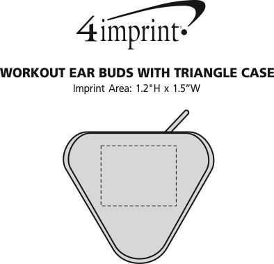 Imprint Area of Workout Ear Buds with Triangle Case