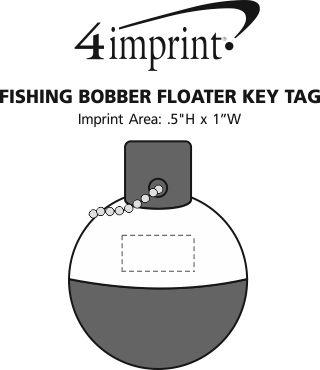 Imprint Area of Fishing Bobber Floater Keychain