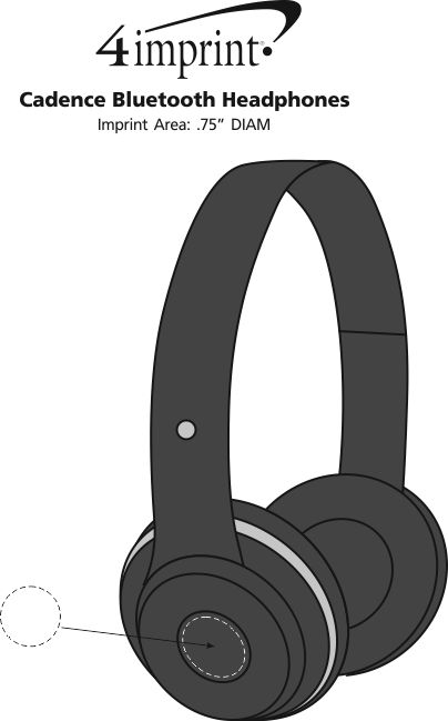 Imprint Area of Cadence Bluetooth Headphones