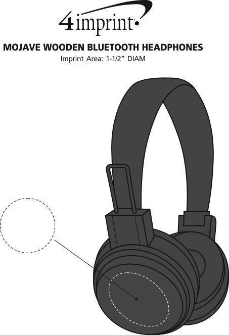 Imprint Area of Mojave Wooden Bluetooth Headphones
