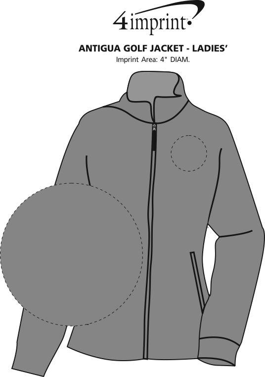 Imprint Area of Antigua Golf Jacket - Ladies'