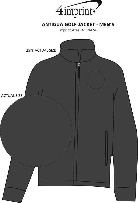 Imprint Area of Antigua Golf Jacket - Men's
