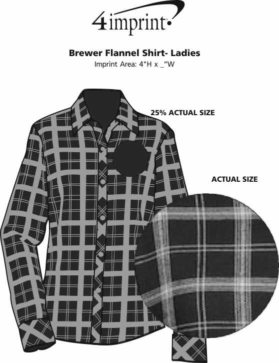 Imprint Area of Brewer Flannel Shirt - Ladies'
