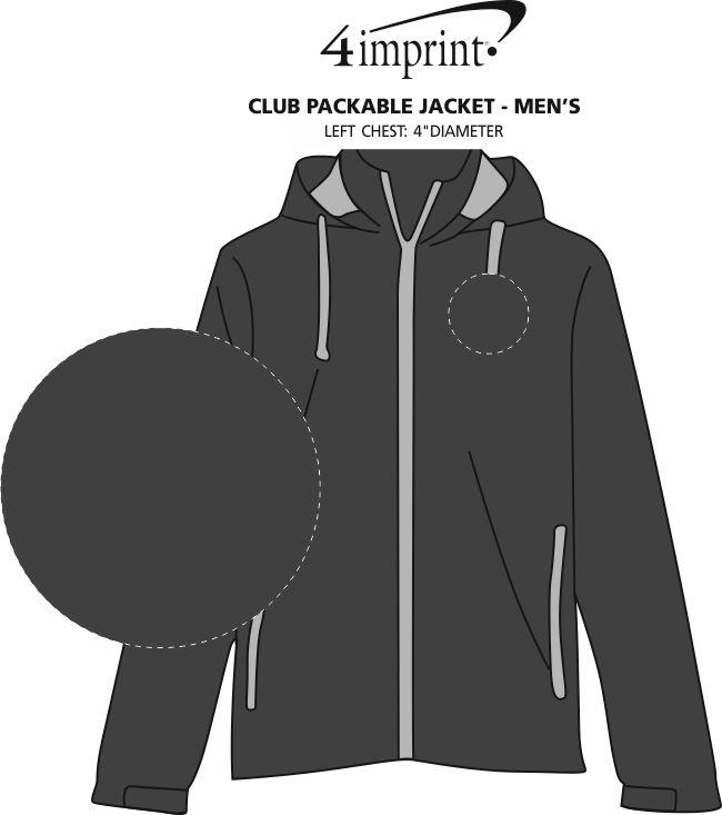 Imprint Area of Club Packable Jacket - Men's