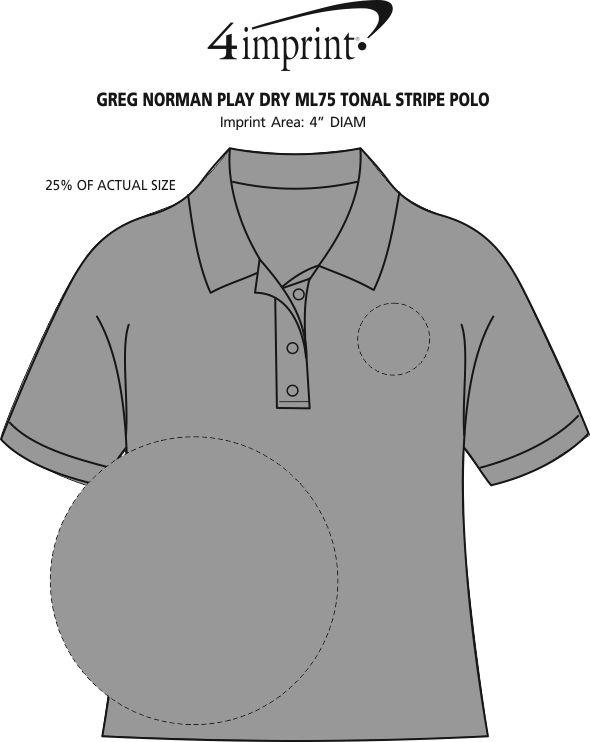 Imprint Area of Greg Norman Play Dry ML75 Tonal Stripe Polo