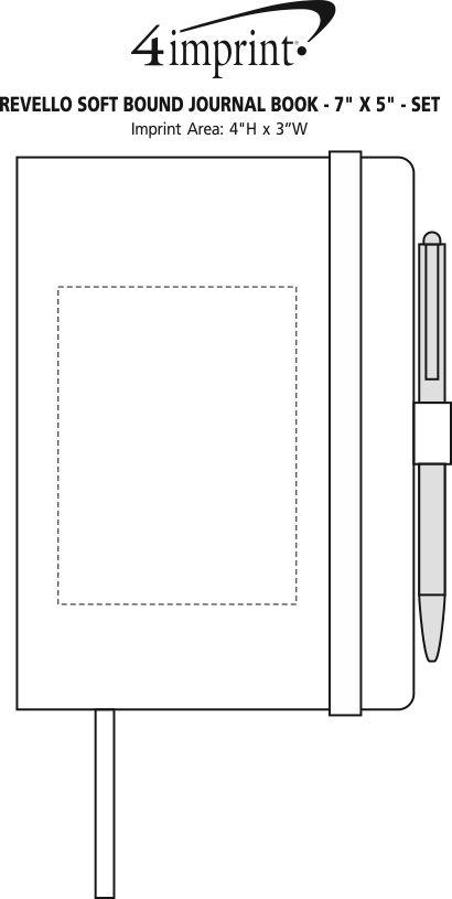 "Imprint Area of Revello Soft Bound Journal Book - 7"" x 5"" - Set"
