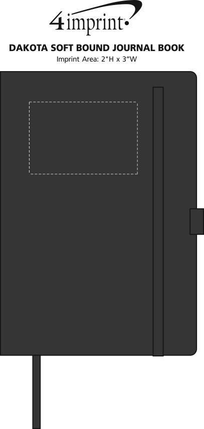 Imprint Area of Dakota Soft Bound Journal Book