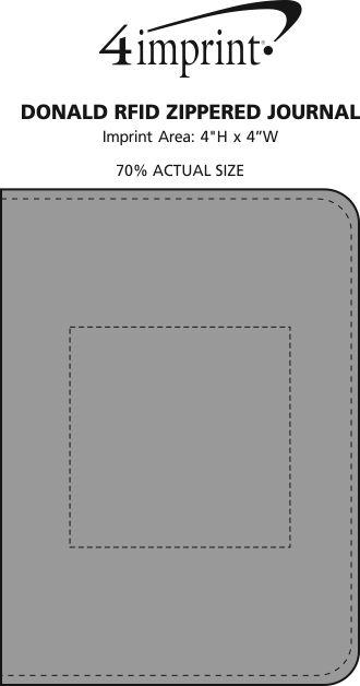 Imprint Area of Donald RFID Zippered Journal