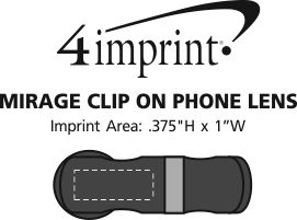 Imprint Area of Mirage Clip On Phone Lens