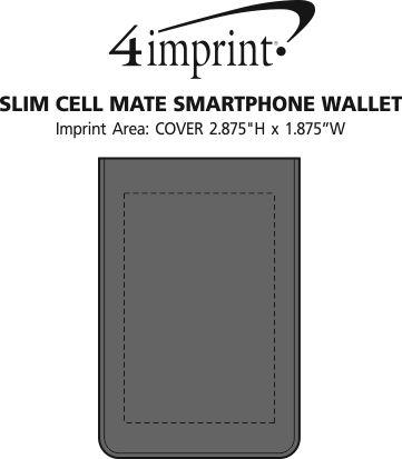 Imprint Area of Slim Cell Mate Smartphone Wallet - Bi-fold