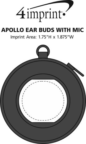 Imprint Area of Apollo Ear Buds with Mic