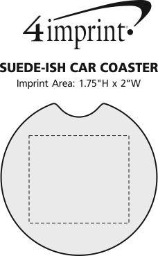 Imprint Area of Suede-ish Car Coaster