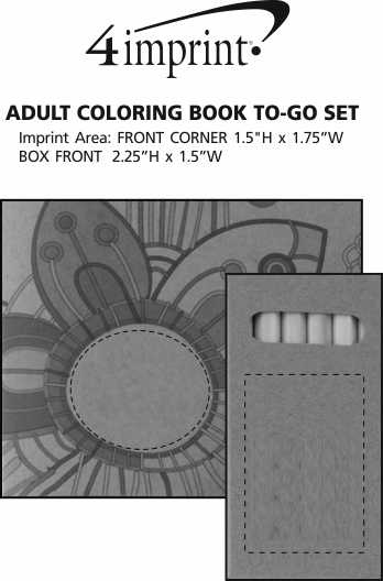 Imprint Area of Adult Coloring Book To-Go Set