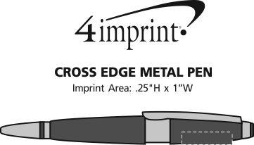 Imprint Area of Cross Edge Metal Pen