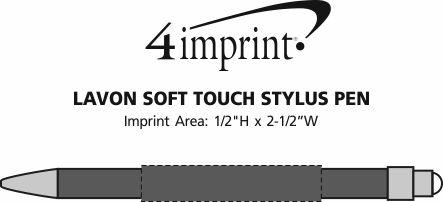 Imprint Area of Lavon Soft Touch Stylus Pen