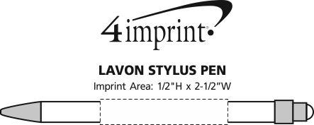 Imprint Area of Lavon Stylus Pen