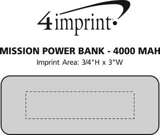 Imprint Area of Mission Power Bank