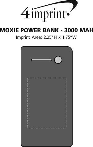 Imprint Area of Moxie Power Bank