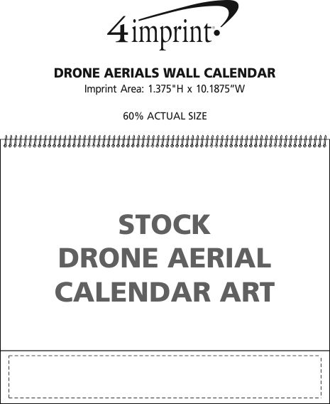 Imprint Area of Drone Aerials Wall Calendar