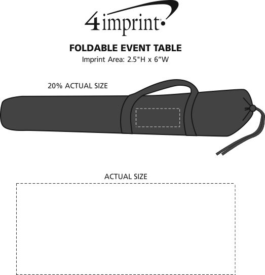 Imprint Area of Foldable Event Table