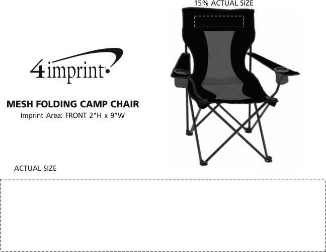 Imprint Area of Mesh Folding Camp Chair