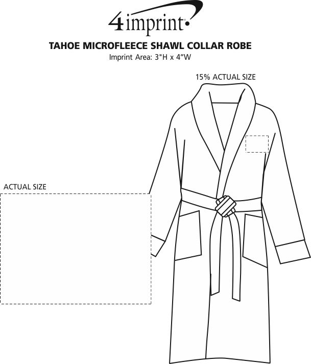 Imprint Area of Tahoe Microfleece Shawl Collar Robe