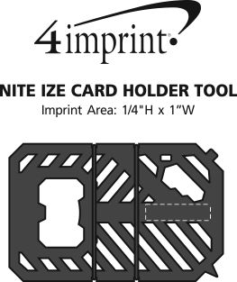 Imprint Area of Nite Ize Card Holder Tool