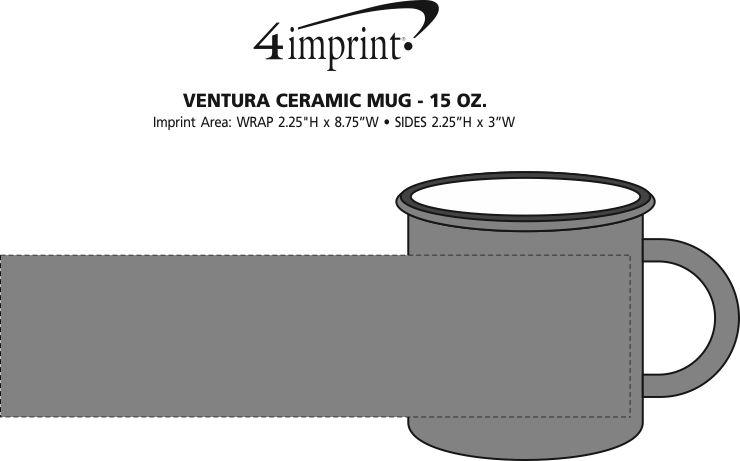Imprint Area of Ventura Ceramic Mug - 15 oz.