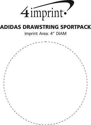 Imprint Area of adidas Drawstring Sportpack