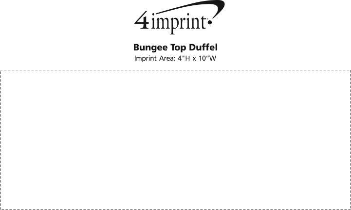 Imprint Area of Bungee Top Duffel