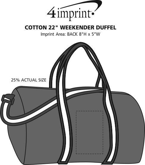 "Imprint Area of Cotton 22"" Weekender Duffel"
