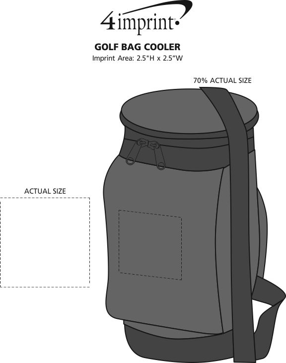 Imprint Area of Golf Bag Cooler